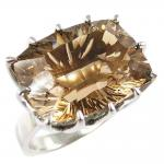 REF-104145-Rings very current smoked quartz